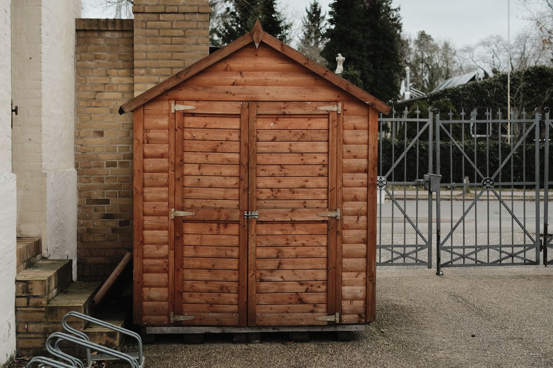 closed stall made from wood