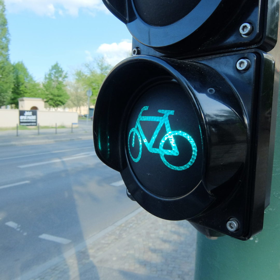 green traffic light for bicycle