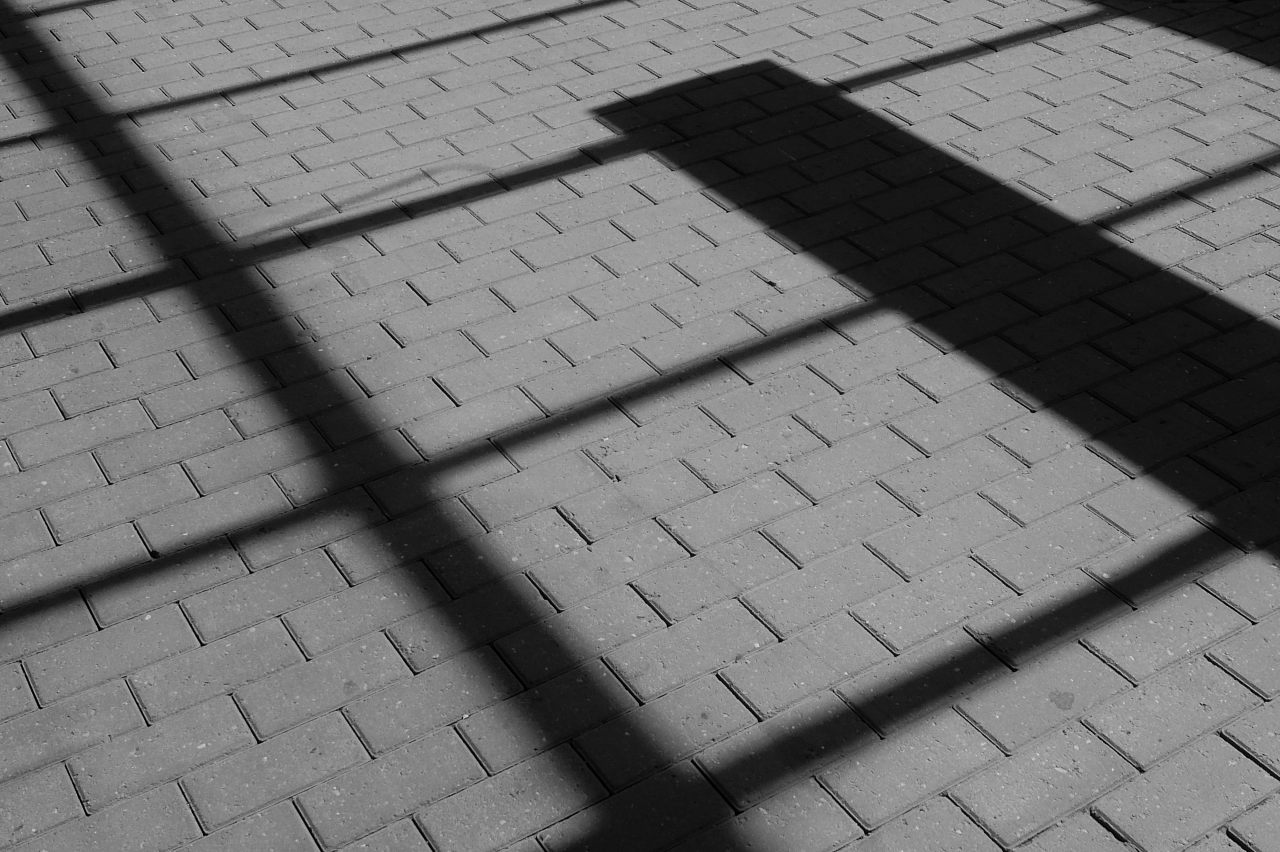 shadows in pavement